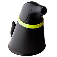 Контейнер с миской для собаки Qualy Pupp черного цвета, фото