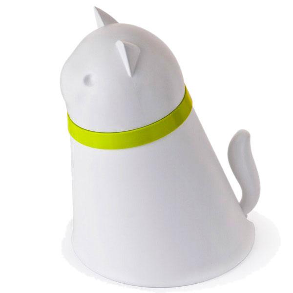 Контейнер с миской для кошки Qualy Kitt белого цвета