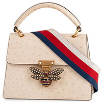 Сумка Gucci Pre-owned Queen Margaret Ostrich Small Shoulder Bag, фото