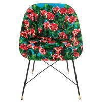 Кресло Seletti Toiletpaper с принтом роз, фото
