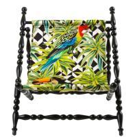 Кресло Seletti Heritage с принтом попугая, фото