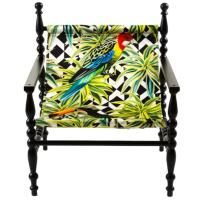 Мягкое кресло Seletti Heritage с принтом попугая, фото