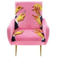 Мягкое кресло Seletti Toiletpaper с необычным принтом, фото