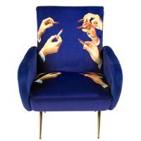 Кресло Seletti Toiletpaper синего цвета, фото
