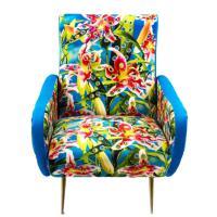 Кресло Seletti Toiletpaper с цветочным принтом, фото