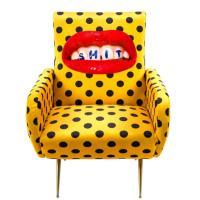 Мягкое кресло Seletti Toiletpaper с принтом губ, фото