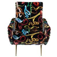 Кресло Seletti Toiletpaper с принтом змеи, фото