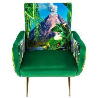 Кресло Seletti Toiletpaper с принтом вулкана, фото