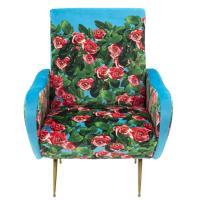 Мягкое кресло Seletti Toiletpaper с принтом роз, фото