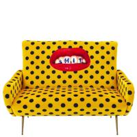 Диван Seletti Toiletpaper с принтом желтого цвета, фото
