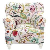 Кресло Seletti Botanical Diva с необычным принтом, фото
