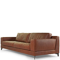 Коричневый диван Borzalino Ben на металлических ножках, фото