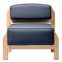 Кресло Wudus T-block с обивкой серого цвета, фото