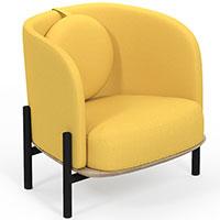 Кресло Wudus Royal Sun желтого цвета, фото