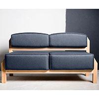 Серый диван Wudus T-block с тканевой обивкой, фото