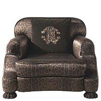 Кресло Roberto Cavalli Home Empire с животным принтом, фото