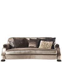 Коричневый диван Roberto Cavalli Home Empire на резных ножках, фото