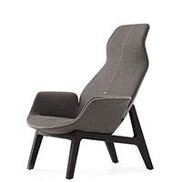 Кресло Poliform Ventura Lounge бежевого цвета, фото