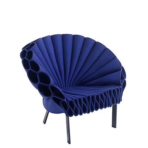 Кресло Cappellini Peacock в синем цвете, фото