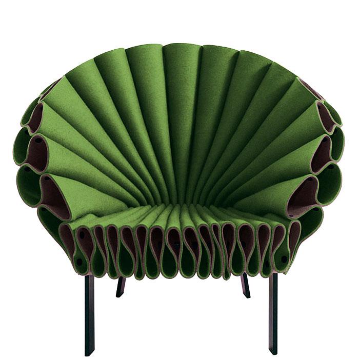 Кресло Cappellini Peacock зеленого цвета