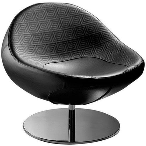 Черное кресло Versace Home Maia на круглой основе