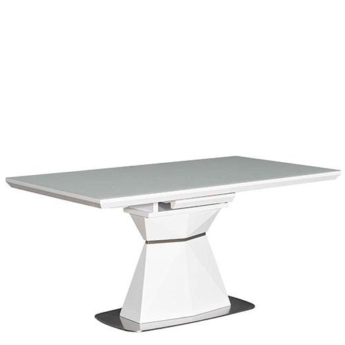 Раскладной стол PRESTOL Кристалл белого цвета, фото