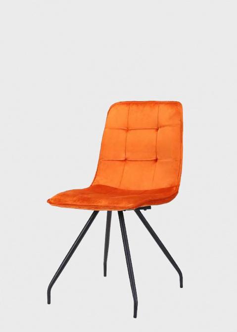 Оранжевый стул PRESTOL Роуз на металлических ножках, фото