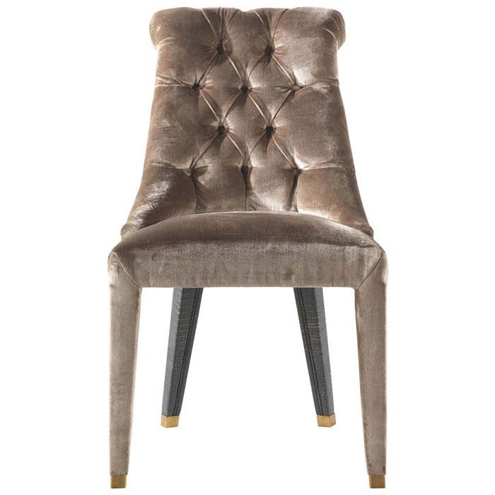 Коричневый стул Roberto Cavalli Home Lady Е с каретной стяжкой