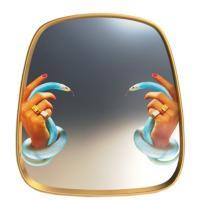 Зеркало Seletti Toiletpaper с декором, фото