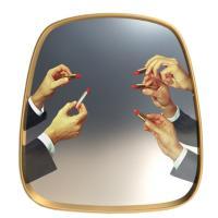 Зеркало Seletti Toiletpaper с принтом помады, фото