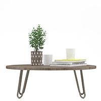 Кофейный столик Wudus Fo-Fo Lounge серого цвета, фото