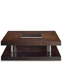 Журнальный стол Matsuoka Duplex из узорчатого дерева, фото