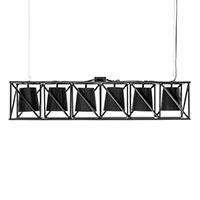 Подвесной черный светильник Seletti на 6 лампочек, фото