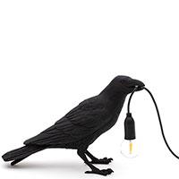 Светильник Seletti Bird Lamp черного цвета, фото