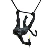 Светильник Seletti Monkey Lamp-Outdoor черного цвета, фото