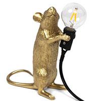 Настольный светильник Seletti Mouse Lamp Step-Gold, фото