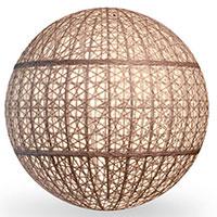 Напольный светильник Pradex Сфера из искусственного ротанга, фото