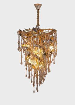 Люстра K-Lighting Sculpture 60см со стеклянными подвесками , фото