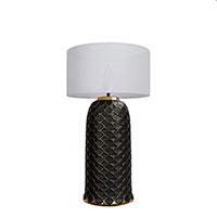 Настольный светильник Ceramika Design Ajur черного цвета , фото