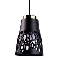 Подвесной светильник Ceramika Design Bionics черного цвета, фото