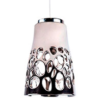 Подвесной светильник Ceramika Design Bionics серебристого цвета, фото