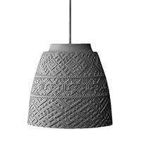 Подвесной светильник Ceramika Design Slavyanskiy kod с плафоном серого цвета с этно орнаментом, фото