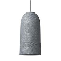 Подвесной светильник Ceramika Design Slavyanskiy kod с плафоном серого цвета и перфорацией, фото