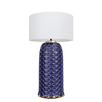Настольный светильник Ceramika Design Ajur 3D синего цвета, фото