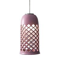 Подвесной светильник Ceramika Design Ajur 3D с ажурным плафоном розового цвета, фото