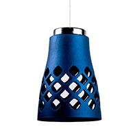 Подвесной светильник Ceramika Design Ajur 3D с ажурным плафоном синего цвета, фото