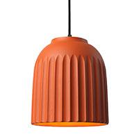 Керамический подвесной светильник Ceramika Design Touch оранжевого цвета, фото