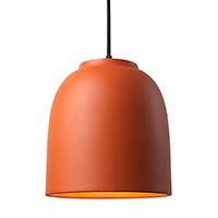 Керамический подвесной светильник Ceramika Design Touch с плафоном оранжевого цвета, фото