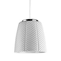 Керамический подвесной светильник Ceramika Design 3D Texture с плафоном белого цвета, фото