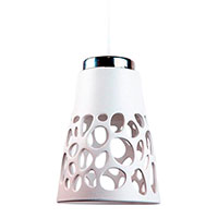Ажурный подвесной светильник Ceramika Design Ajur 3D белого цвета , фото
